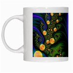 Blue Green Snails Under Sea Fractal White Mug