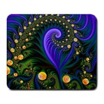 Blue Green Snails Under Sea Fractal Large Mousepad