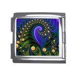 Blue Green Snails Under Sea Fractal Mega Link Italian Charm (18mm)