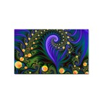 Blue Green Snails Under Sea Fractal Sticker (Rectangular)