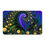 Blue Green Snails Under Sea Fractal Magnet (Rectangular)