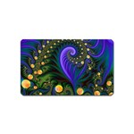 Blue Green Snails Under Sea Fractal Magnet (Name Card)