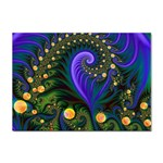 Blue Green Snails Under Sea Fractal Sticker A4 (10 pack)
