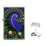 Blue Green Snails Under Sea Fractal Flip Top Lighter