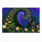Blue Green Snails Under Sea Fractal Postcard 4  x 6