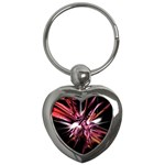 Pink Goth Spider Fingers on Black Key Chain (Heart)