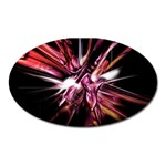 Pink Goth Spider Fingers on Black Magnet (Oval)