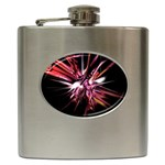 Pink Goth Spider Fingers on Black Hip Flask (6 oz)