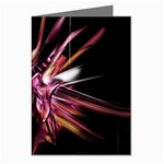 Pink Goth Spider Fingers on Black Greeting Card