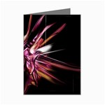 Pink Goth Spider Fingers on Black Mini Greeting Card
