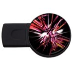Pink Goth Spider Fingers on Black USB Flash Drive Round (2 GB)