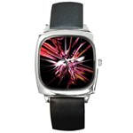Pink Goth Spider Fingers on Black Square Metal Watch