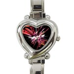Pink Goth Spider Fingers on Black Heart Italian Charm Watch