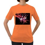 Pink Goth Spider Fingers on Black Women s Dark T-Shirt