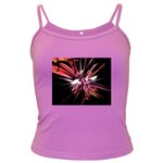 Pink Goth Spider Fingers on Black Dark Spaghetti Tank