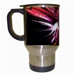 Pink Goth Spider Fingers on Black Travel Mug (White)