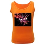 Pink Goth Spider Fingers on Black Women s Dark Tank Top