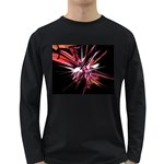 Pink Goth Spider Fingers on Black Long Sleeve Dark T-Shirt
