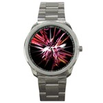 Pink Goth Spider Fingers on Black Sport Metal Watch