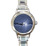 Light in The Wall Goth Punk Fantasy Round Italian Charm Watch