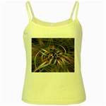 Flower Blooming in a Digital World Yellow Spaghetti Tank