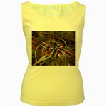 Flower Blooming in a Digital World Women s Yellow Tank Top