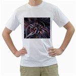 Flower Blooming in a Digital World White T-Shirt