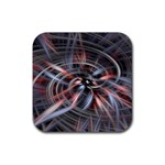 Flower Blooming in a Digital World Rubber Square Coaster (4 pack)