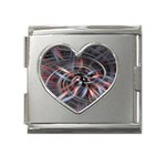 Flower Blooming in a Digital World Mega Link Heart Italian Charm (18mm)