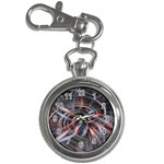 Flower Blooming in a Digital World Key Chain Watch