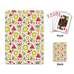 Summer Fruits Pattern Playing Card by TastefulDesigns
