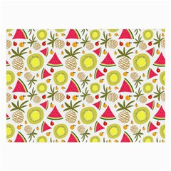 Summer Fruits Pattern Large Glasses Cloth (2 Side) by TastefulDesigns