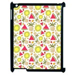 Summer Fruits Pattern Apple iPad 2 Case (Black) Front