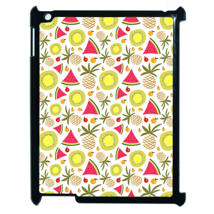 Summer Fruits Pattern Apple iPad 2 Case (Black)