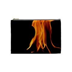 Fire Flame Pillar Of Fire Heat Cosmetic Bag (medium)  by Nexatart
