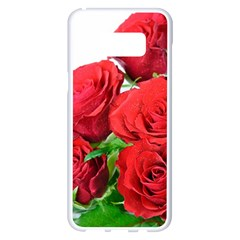 A Bouquet Of Roses On A White Background Samsung Galaxy S8 Plus White Seamless Case by Nexatart