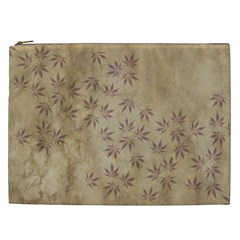 Parchment Paper Old Leaves Leaf Cosmetic Bag (xxl)  by Nexatart
