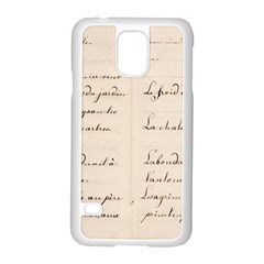 German French Lecture Writing Samsung Galaxy S5 Case (white) by Nexatart