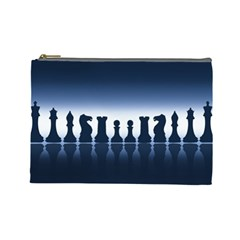 Chess Pieces Cosmetic Bag (large)  by Valentinaart