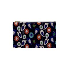 Cute Birds Seamless Pattern Cosmetic Bag (small)  by Nexatart