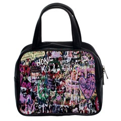 Graffiti Wall Pattern Background Classic Handbags (2 Sides) by Nexatart