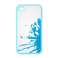 Blue Stain Spot Paint Apple Iphone 4 Case (color) by Mariart