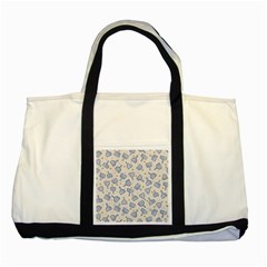 Glass Polka Circle Blue Two Tone Tote Bag