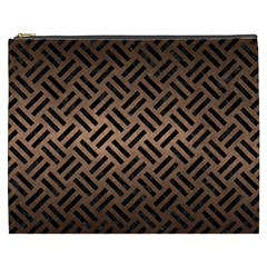 Woven2 Black Marble & Bronze Metal (r) Cosmetic Bag (xxxl) by trendistuff