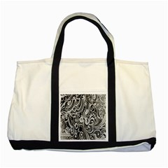Black White Shape Two Tone Tote Bag