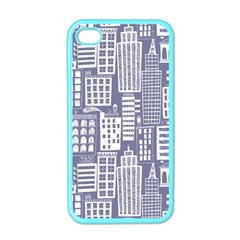 Building Citi Town Cityscape Apple Iphone 4 Case (color) by Mariart