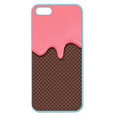 Ice Cream Pink Choholate Plaid Chevron Apple Seamless Iphone 5 Case (color) by Mariart