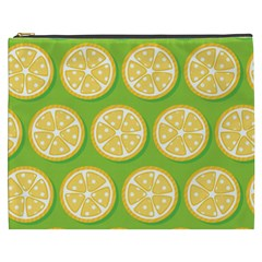 Lime Orange Yellow Green Fruit Cosmetic Bag (xxxl)  by Mariart