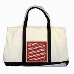 Pink White Polka Dots Two Tone Tote Bag