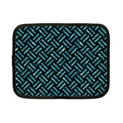 Woven2 Black Marble & Blue Green Water Netbook Case (small) by trendistuff